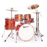 PREMIER Maple Shell Drum Kit Genista Series [Full Kit] - Burnt Orange Sparkle Lacquer - Drum Kit